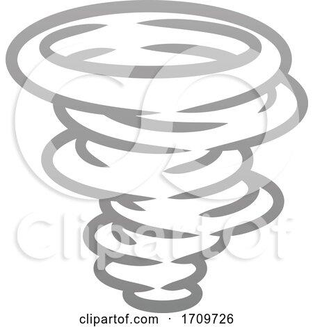 Tornado Twister Hurricane or Cyclone Icon Concept by AtStockIllustration