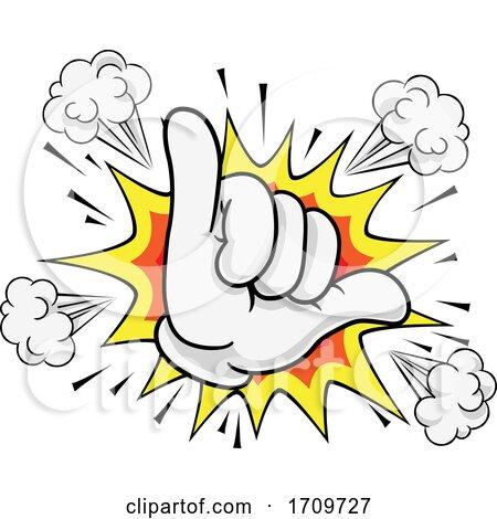 Shaka Hang Loose Hand Gesture Sign Cartoon Symbol Posters, Art Prints