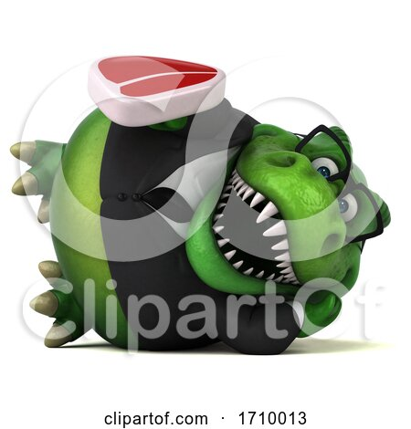 3d T Rex Dinosaur, on a White Background Posters, Art Prints