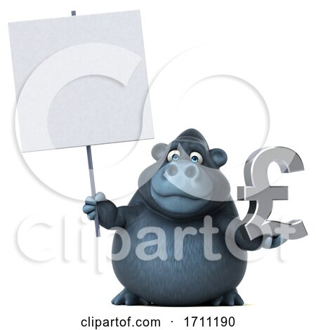 3d Gorilla on a White Background by Julos
