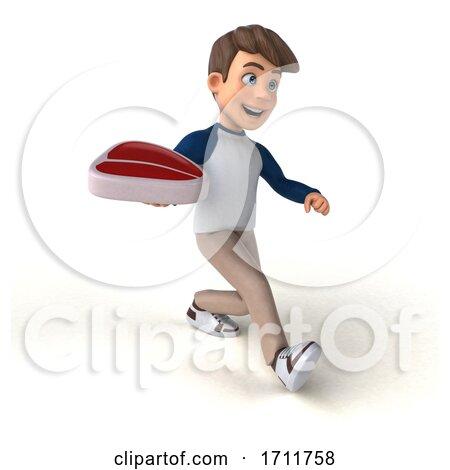 3d White Boy, on a White Background Posters, Art Prints