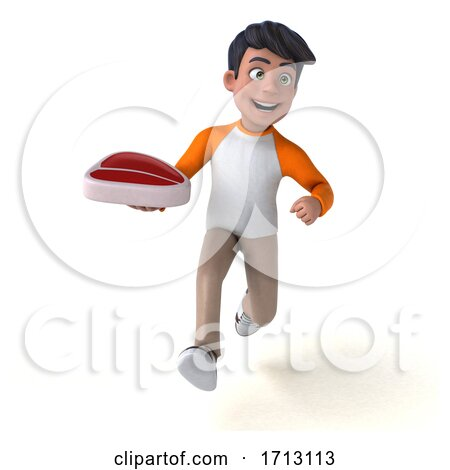 3d Indian Boy, on a White Background Posters, Art Prints