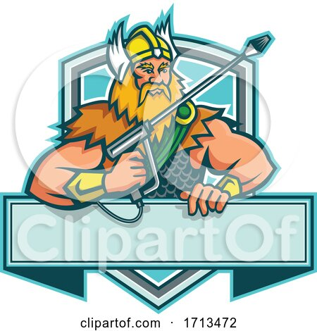 Thor Holding a Pressure Washer Wand by patrimonio