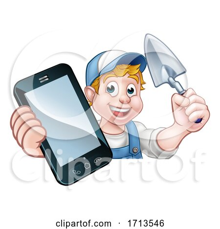 Builder Phone Concept by AtStockIllustration