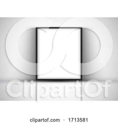 Display Background with Blank Picture Frame Against a Wall by KJ Pargeter