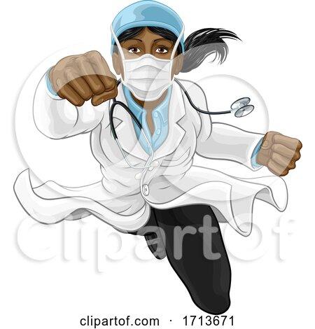 Doctor Woman Super Hero Medical Concept by AtStockIllustration