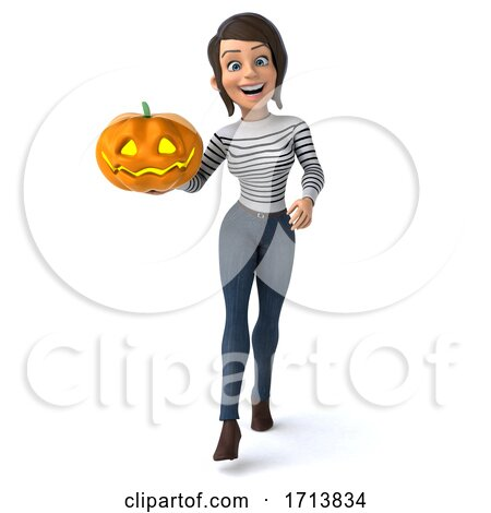 3d Breton Woman, on a White Background by Julos