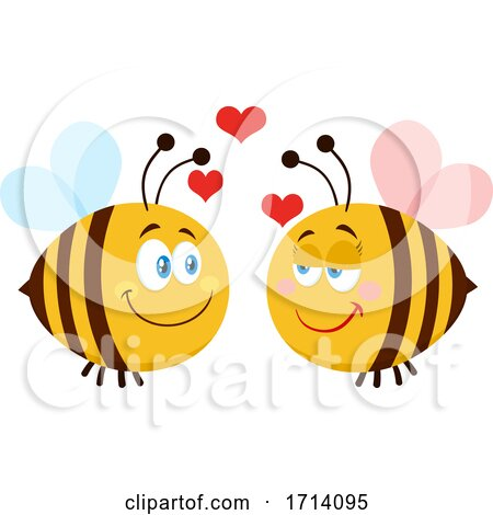 Bee Couple in Love Posters, Art Prints