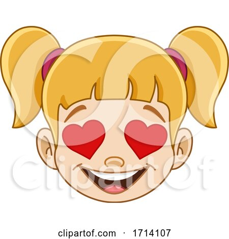 Blond Haired Girl with a Love Expression Posters, Art Prints