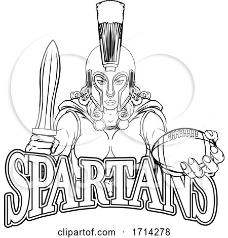 Spartan Trojan Gladiator Football Warrior Woman by AtStockIllustration