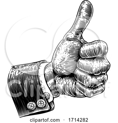 Hand in Business Suit Giving Thumbs up by AtStockIllustration