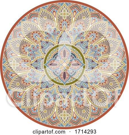 Pattern Motif Mandala Art Ornament Design Element by AtStockIllustration