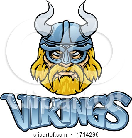 Viking Mascot Warrior Sign Graphic by AtStockIllustration