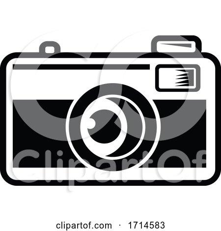 Vintage 35mm Film Camera Black and White by patrimonio