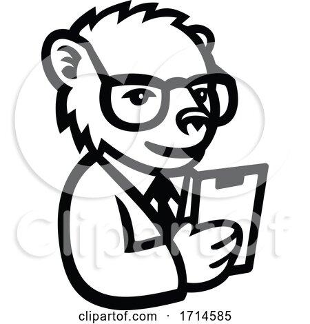 Nerdy Bear Scientist by patrimonio