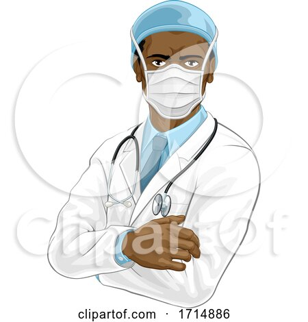 Doctor Wearing Medical PPE by AtStockIllustration