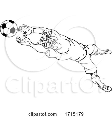 Bulldog Soccer Football Player Sports Mascot by AtStockIllustration