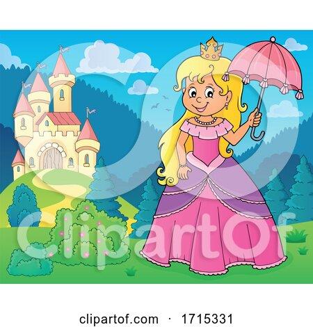 Princess Holding an Umbrella by visekart
