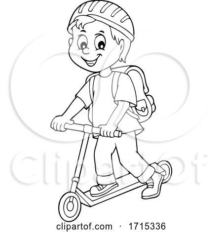 Boy on a Kick Scooter by visekart