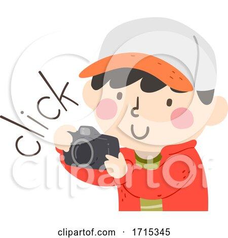 Kid Boy Camera Sound Click Illustration by BNP Design Studio