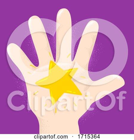 Hand Kid Star Illustration by BNP Design Studio