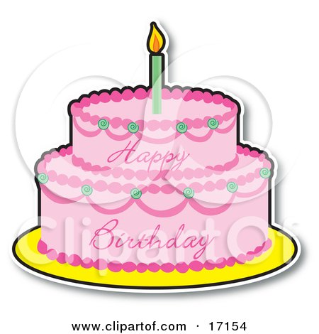 Birthday Cake Clip Art Show