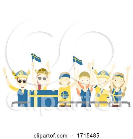 Teens Viking Crowd Front Illustration by BNP Design Studio