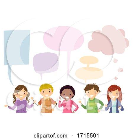 Teens Different Speech Bubbles Illustration by BNP Design Studio