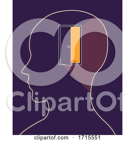 Head Open Door Open Mind Illustration by BNP Design Studio