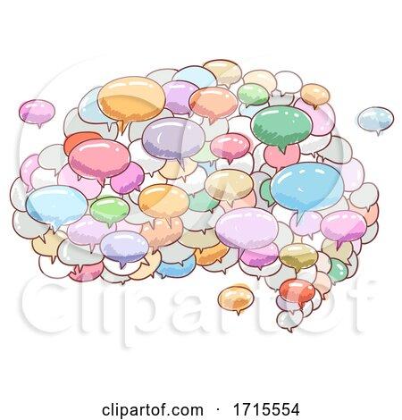 Speech Bubble Brain Illustration by BNP Design Studio