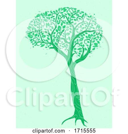 Tree Brain Spinal Cord Metaphor Illustration by BNP Design Studio