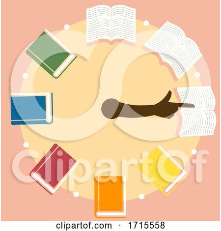 Speed Reading Timer Books Design Illustration by BNP Design Studio