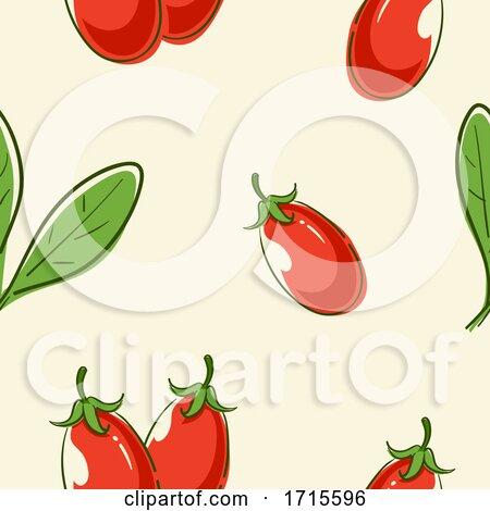 Seamless Goji Berry Background Illustration by BNP Design Studio