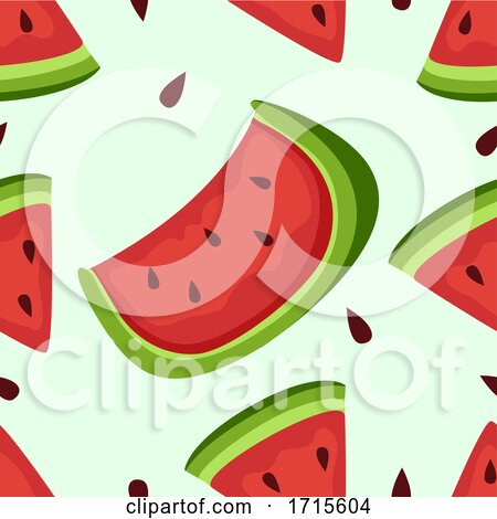 Seamless Watermelon Background Illustration by BNP Design Studio