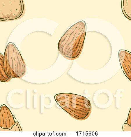 Seamless Almond Background Illustration by BNP Design Studio