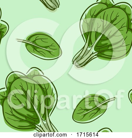 Seamless Spinach Background Illustration by BNP Design Studio