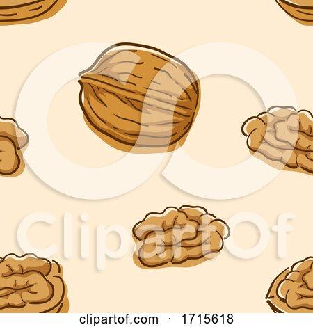 Seamless Walnut Background Illustration by BNP Design Studio