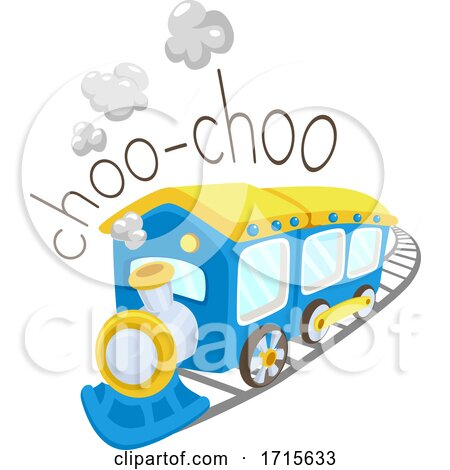 Train Onomatopoeia Sound Choo Choo Illustration by BNP Design Studio