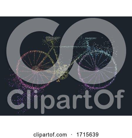 Bicycle Pointillism Illustration by BNP Design Studio