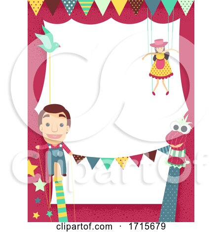 Puppet Festival Frame Illustration by BNP Design Studio
