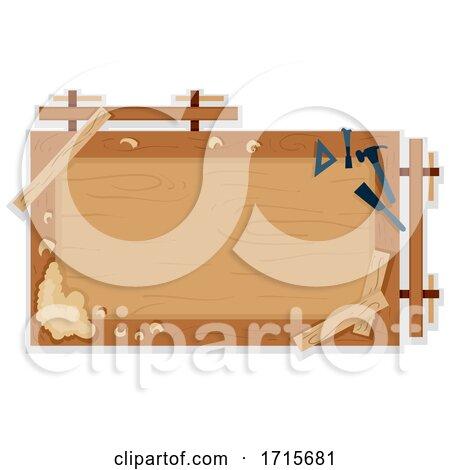 Woodworking Bench Frame Illustration Posters, Art Prints