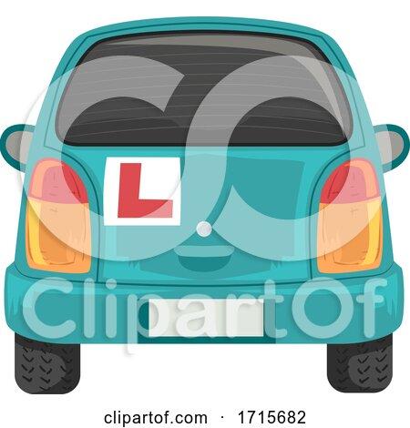 Car Back Learner Mark Illustration by BNP Design Studio