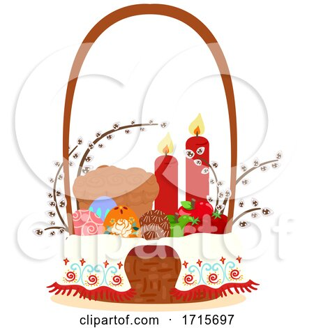 Easter Basket Ukraine Illustration Posters, Art Prints
