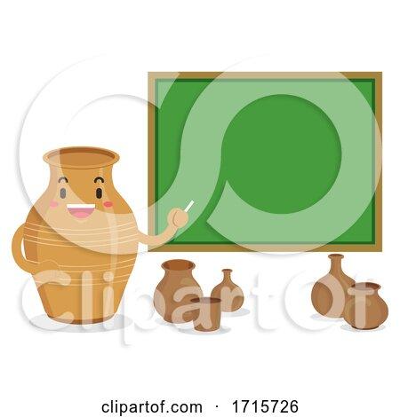 Mascot Jar Teach Pottery Class Illustration by BNP Design Studio