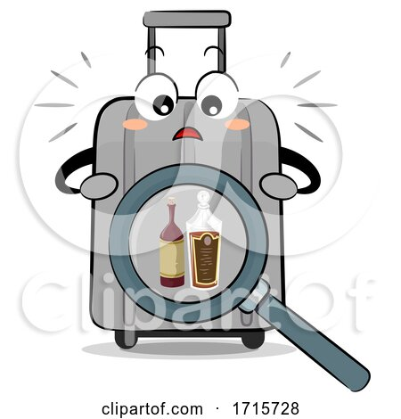 Mascot Luggage Alcohol Drink Illegal Illustration by BNP Design Studio