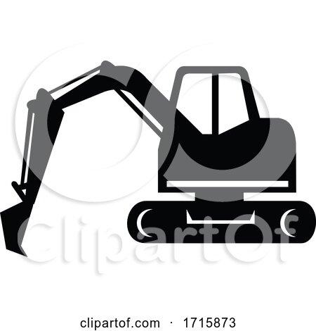 Mechanical Digger or Excavator Posters, Art Prints