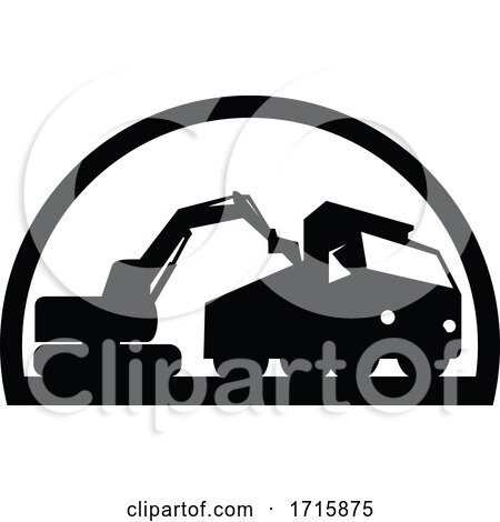 Mechanical Digger Excavator Earthmover Posters, Art Prints