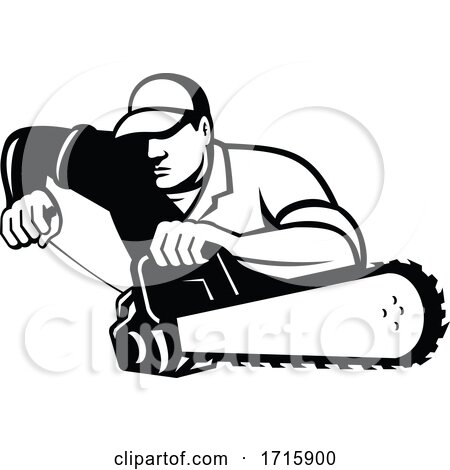 Tree Surgeon Holding a Chainsaw by patrimonio