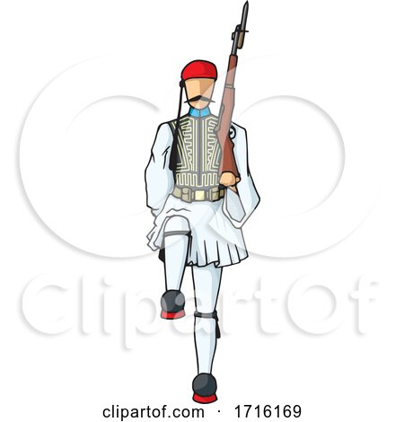 Marching Greek Evzone by Any Vector
