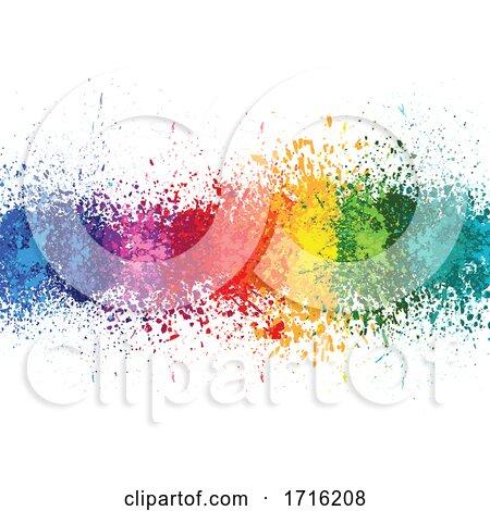 Colorful Splash Background by dero